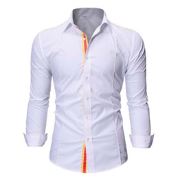 Projetos da blusa do algodão on-line-JAYCOSIN camisas Men forma formal blusas Casual Sólidos Pathwork Design Estilo Cotton Smart Casual Shirts Tops Blusa MODIS 420