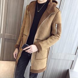 Otoño e invierno de los hombres, estilo nuevo, engrosamiento, moda, sección larga y media, cremallera, chaqueta con capucha desde fabricantes