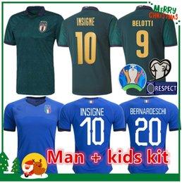 El shaarawy trikot online-MAN + KIDS 2019 2020 ITALY European Cup Fußball Jersey 19 20 grün Jorginho EL Shaarawy BONUCCI INSIGNE Bernardeschi Fußball-Hemden weg