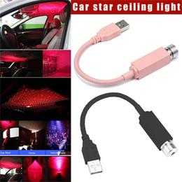 2019 вентилятор xiaomi usb Мини-LED автомобиля на крыше Star Night Lights проектор света Интерьер Ambient Атмосфера лампы украшения свет USB Plug