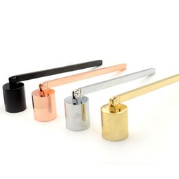 strumenti di facile utilizzo Sconti Stainless Steel Candle Snuffer assassino Wick Trimmer Strumento multi colore spegnere un incendio su Bell Easy da usare Candela coprire LJJA3638-2