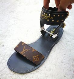 größe 44 sandalen Rabatt Sommer Marke Frauen Drucken Leder Sandale Markante Gladiator Stil Designer Leder Laufsohle Perfekte Flache Leinwand Plain Sandal Size ...