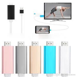or convertir Promotion Adaptateur dock vers HDMI TVHD Câble USB 1080P pour 7 8 câbles HDMI avec boîte de vente au détail