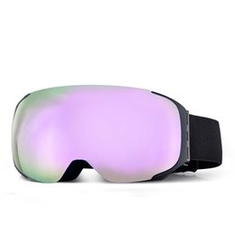 Skibrille mit magnetischer Nachtskibrille Anti-Fog UV400 Snowboardbrille für Herren Damen Sphärische Skibrille Anpassbares LOGO von Fabrikanten