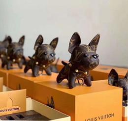 Argentina Nuevo diseño bulldog llavero de metal colgante del llavero del coche masculino y femenino de la marca llavero caja de regalo caja de regalo embalaje Suministro