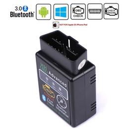HH OBD ELM327 Bluetooth OBD2 OBDII CAN BUS Проверка Двигателя Авто Диагностический Сканер Инструмент Интерфейс Адаптер Для ПК Android от Поставщики xp работает