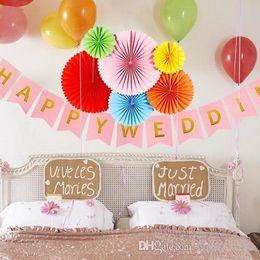 Party di appendere della ventola di carta online-6pcs ventagli di carta ritagliata carta velina girandole appesi artigianato di carta fiore per docce festa di compleanno festa di compleanno