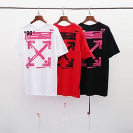 2019 алмазные футболки 2019OW футболка мужская и женская футболка с коротким рукавом с бриллиантовым принтом рубашки хлопок рубашка мужская классная футболка Summer Fashion Street Top скидка алмазные футболки