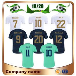 Uniforme real de madrid online-2019 Versión del jugador Real Madrid Home Soccer Jersey 19/20 Visitante PELIGRO KROOS MODRIC RAMOS Camisa MARCELO ASENSIO ISCO 3er uniforme de fútbol