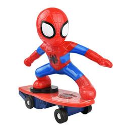 2019 moteur rc nitro Vente chaude Iron Man voitures à distance drôle Spider Man rc voitures camions radio enfants cadeau d'anniversaire