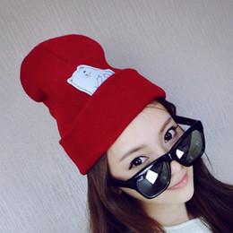 eca92c7e4d0 korean grey winter cap Promo Codes - Fashion unisex outdoor Beanie stripes  hip hop knitting hat