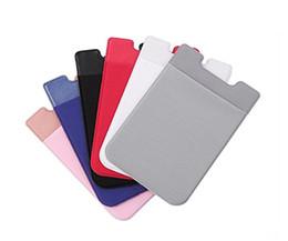 мобильный держатель для спины Скидка Цветастый мобильный телефон Lycra задний карман бумажник мобильного телефона держателя кредитной карточки удостоверения личности карман наклейка Lycra