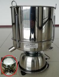 químicos naranjas Rebajas 20cm Aumentar Tamiz 220 V / 110 V Polvo electrostático Tamizamiento Máquina de tamizado Vibración fuerte Polvo eléctrico Máquina Tamiz 6-600mesh