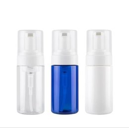 Garrafa de espuma azul on-line-100 ml 150 ml mousse de espuma frasco de espuma de limpeza facial garrafa de emulsão Limpar branco azul PET de garrafas de plástico recipiente de bomba garrafa de recipiente cosmético