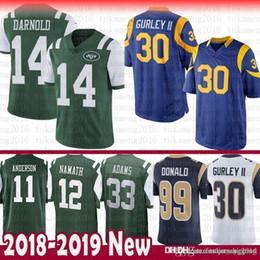 19f6ac25f8e 14 Sam Darnold 30 Todd Gurley St.louis New York Rams Jets Jersey 99 Aaron  Donald Joe Namath 33 Jamal Adams 11 Robby Anderson 16 Jared Goff discount  todd ...