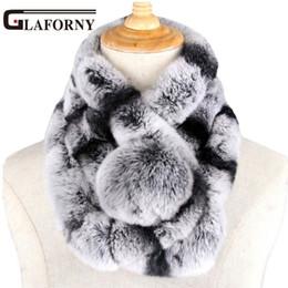 2019 шарфы для кроликов Glaforny 2018 новая зима бобр кролик шерсть шарф воротник леди зима теплая меховой шарф выдра кролик волос воротник набор Оптовая D19011106 дешево шарфы для кроликов