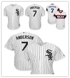 05edd7dfb Men s White Sox 7 Tim Anderson Majestic Home White Cool Base Replica Player  Chicago Jersey