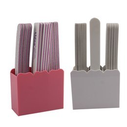 2019 arquivos de caixas de armazenamento Acrílico 3 Slots Nail Art Ferramentas Titular Nail Arquivo Buffer Brushes Organizador De Armazenamento Caso Caixa desconto arquivos de caixas de armazenamento