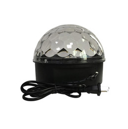 ruotare la palla Sconti LED Stage Lighting Dancing Floor Crystal Magic Ball Disco LED Light Rotating Colorful Lampeggiante Lampeggiante Lights KTV Laser Light Pub