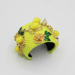 Cinta de cristal para boda 2019 Nuevo Lujo Amarillo Encanto Vintage Barroco Corona Tiara Rhinestone Cinta de cristal Boda Accesorios para el cabello 503 desde fabricantes