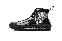 Nouvelles chaussures de fleur de pvc en Ligne-NOUVEAU 19SS Fleurs Technique Toile B23 Baskets Hautes Dans Oblique Mens luxe Designer Designer Chaussures Mode Baskets Occasionnels Chaussures taille