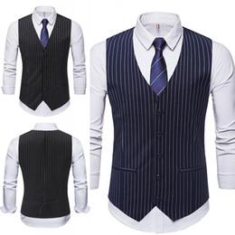 Wholesale 2019 мужской жилет стили полосатой ткани однобортный мужской одежды жилеты лучшие мужские жилеты мужской жилет на заказ