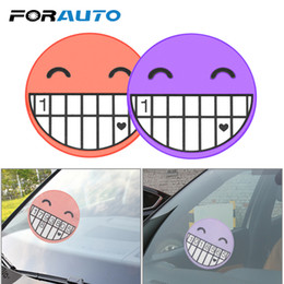 smiling faces cartoons Coupons - FORAUTO Car Temporary Parking Card Car Sticker Emoji Cartoon Smile Face Digital Puzzle Telephone Number Plates Car-styling