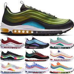 2020 zapatos negros de los hombres franceses 2019 Air Max 97 OG Tatum Designer Shoes Throwback Future Triple Black White Hombres Zapatos para correr French Splashing ink Moda Hombres Mujeres Zapatillas de deporte 36-45 rebajas zapatos negros de los hombres franceses