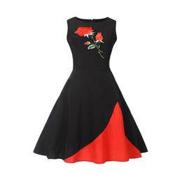 ca76a093e306 high quality maxi dresses vintage UK - Retro style Women Dress Vintage  Floral Bodycon Sleeveless Party
