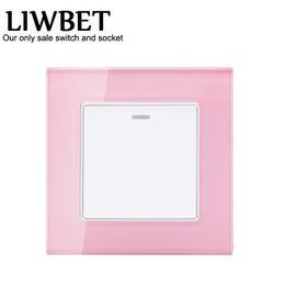 Interruttore a muro di colore rosa e interruttore a 10A e 1 interruttore a 1 via / 2 vie da