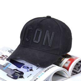 2019 cappelli di stile militare per gli uomini d2 berretto da baseball cap Designer lusso cappello nero icona tappo Snapback di golf degli uomini dietro UAR misto all'ingrosso 4 di colore
