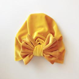 kinder schmetterlinge Rabatt Kinderhut Kinder Goldene Samtkappe Schmetterlinggeknotete Babykappe Babykappe Neutrale Kappe Baumwollmaterial Dome 58