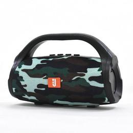 amplificador de micrófono portátil Rebajas 2019 BS118 Mini altavoz Bluetooth Reproductor de audio portátil Estéreo inalámbrico Manos libres Subwoofer de sonido Altavoces para exterior para iphone
