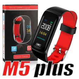m5 téléphones Promotion M5 PLUS Bracelet Smart Fitness Tracker Fréquence Cardiaque pour Fitbit Xiaomi Bracelet Intelligent Montre de Téléphone Intelligent pour Apple Android PK ID115 DZ09 U8