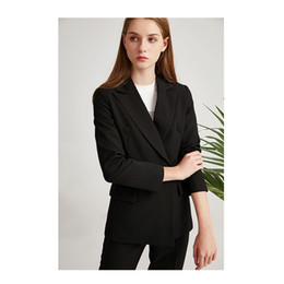 vêtements de travail professionnels Promotion Noir costume costume femmes été mode britannique haut de gamme des affaires professionnelles formelles dames occasionnelles tempérament vêtements de travail