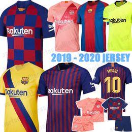 Jersey 17 kit online-2019 2020 Barcellona maglie di calcio 10 Messi 17 Griezmann Dembele Suarez DEMBELE Mens Kid Kit Ufficiali Donna 19 20 nuova casa lontano terzo Jersey