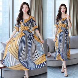 ec880535d4eab 2019 klassische französische kleider 17zq Sommerkleid im französischen Stil  Klassisches Retro-Kleid Langer Lotusblatt-