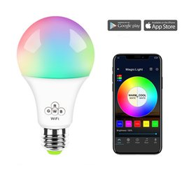 2019 types lampadaires Ampoule intelligente Alexa RGB + Eclairage blanc chaud led wifi bulb6.5W ampoule intelligente commandée sans fil Alexa And Google Home pour maison intelligente