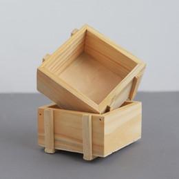 Artesanato caixas de doces on-line-Hot Handmade Caixa De Armazenamento De Jóias De Madeira Plain Candy Case Organizador Anel Artesanato Caixas De Caixa De Madeira Artesanal