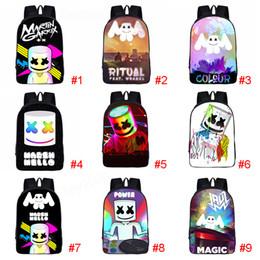 2019 karikatur schulbuch taschen 18 Design Schultaschen 3D Cartoon DJ Marshmello Schultasche Rucksack für Mädchen Jungen Adrette Rucksäcke Kinderbuch Tasche liefert Rucksack rabatt karikatur schulbuch taschen