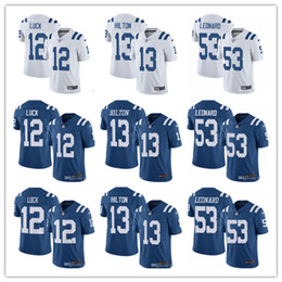 short colt Coupons - Men's Women's Youth Indianapolis 12 Andrew Luck 13 T.Y. Hilton 53 Darius Leonard blue White Custom Football Jerseys Colts