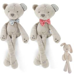 giocattolo bianco coniglietto Sconti Bambini giocattoli di peluche orso di Pasqua bambini bianco e beige morbido coniglio a pelo bambola farcito giocattoli per bambini regalo