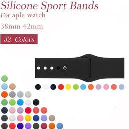 Reemplazo de la banda deportiva de silicona para Apple Watch 4 3 2 1 Banda Correa de muñeca con adaptadores Accesorios 40mm 44mm 42mm 38mm desde fabricantes