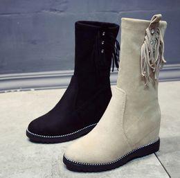 sapatos qiu Desconto XWWDVV Martin bota feminina qiu dong novo fundo botas coringa feminina sobe no chão solo aumentar sapato