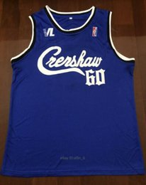 Camisa de vitória on-line-2020 MENS new Nipsey Hussle Crenshaw Victory Lap Cover Basketball Hip Hop Jersey Blue basketball camisas Tamanho S-XXL