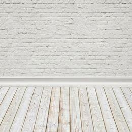 Laeacco Белая Кирпичная Стена Деревянный Пол Портрет Детские Фотографии Фоны Индивидуальные Фотографические Фоны Для Фотостудии supplier white brick photography backdrop от Поставщики белый кирпичный фон фотографии