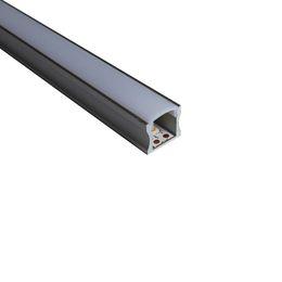 luzes de parede embutidas Desconto o perfil de alumínio conduzido linear da canaleta de alumínio conduziu e o canal de U de 60 graus com a lente para o teto ou recessed luzes de parede 17mm * 14.5mm