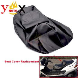 motorcycle seat cushions Promo Codes - Replacement Thick Black PU Leather Scooter Bike Motorcycle Seat Cover Cushion Waterproof For YAMAHA Majesty YP250 YP 250