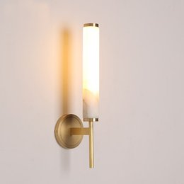 Argentina Todo de cobre, lámpara de pared de mármol, sala de estar, pared, lámpara de mármol natural, pasillo simple, dormitorio, lámpara de noche, luz de baño, luz de pared led cheap bathroom marble walls Suministro