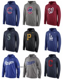 Roter hoodie 4xl online-Männer Frauen Jugend Dodgers Nationals Red Orioles Sox Inder Cubs Mariners Piraten White Sox Leistung Pullover Hoodie